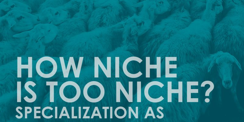 How niche is too niche? Specialization is a marketing tool